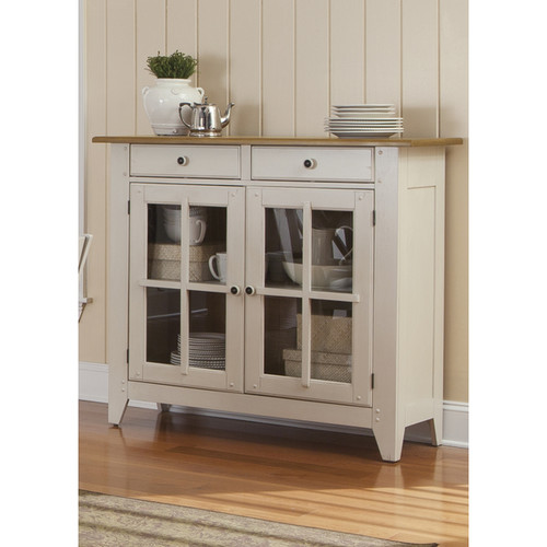 Liberty Buffets, Sideboards & China Cabinets Al Fresco Two-Tone Transitional Server