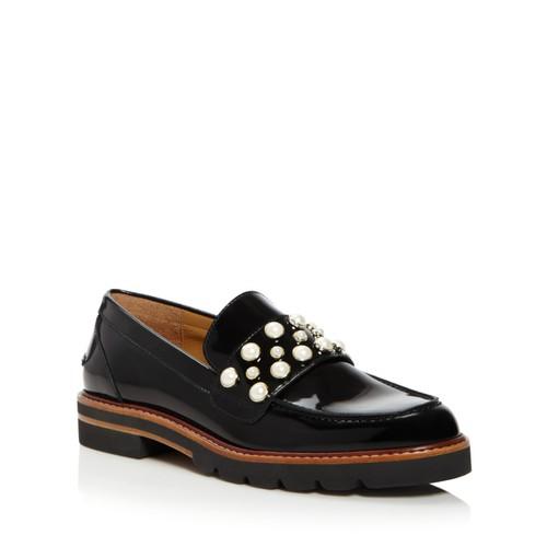 STUART WEITZMAN Mocpearl Embellished Loafers