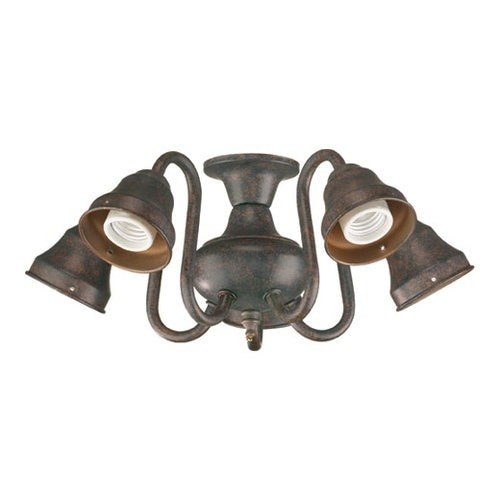Quorum International 2530 5 Light Kit for Ceiling Fans with Curved Arms [option : satin nickel]