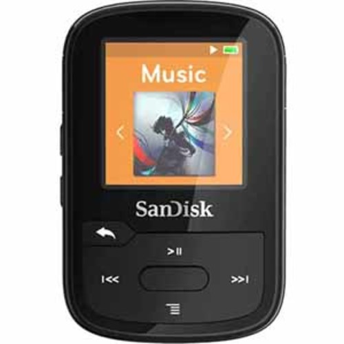 SanDisk Clip Sport Plus 16GB Bluetooth MP3 Player - Black