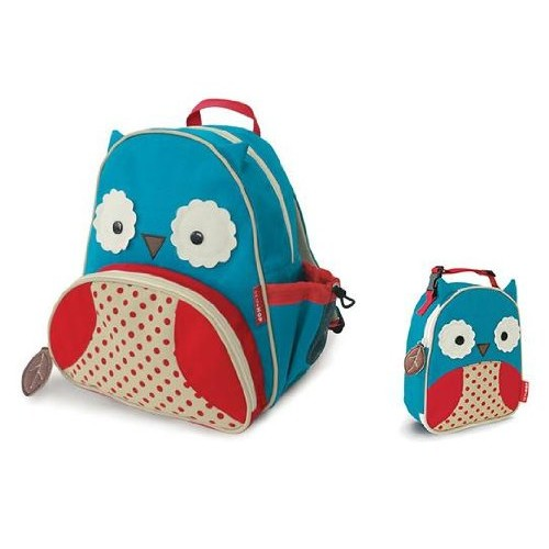 Skip Hop Baby Zoo Little Kid and Toddler Insulated and Water-Resistant Lunch Bag, Multi Otis Owl [Owl]