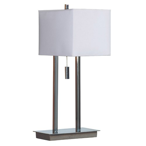 Kenroy Home Emilio 21 in. Chrome Accent Table Lamp