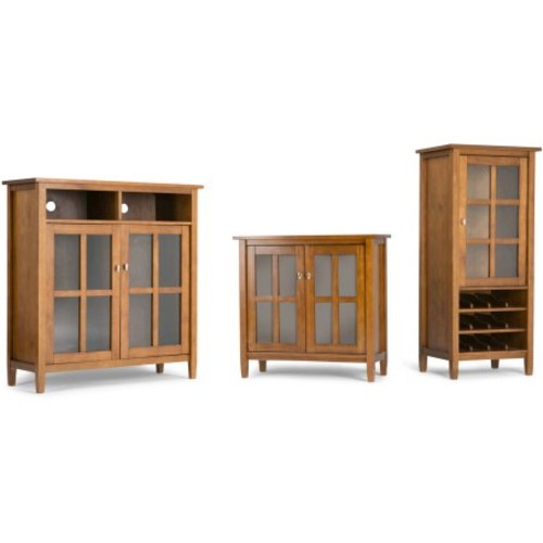 Simpli Home Warm Shaker Medium Storage Media Cabinet