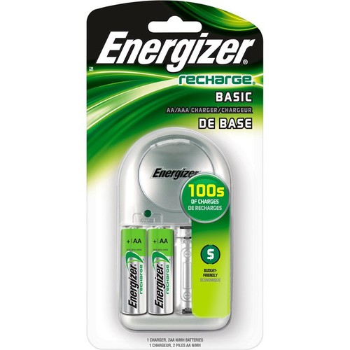 Energizer Plug-In Battery Charger w/2 Rechargeable Batteries  For AA, AAA and NiMH Batteries  Model# CHVCWB2