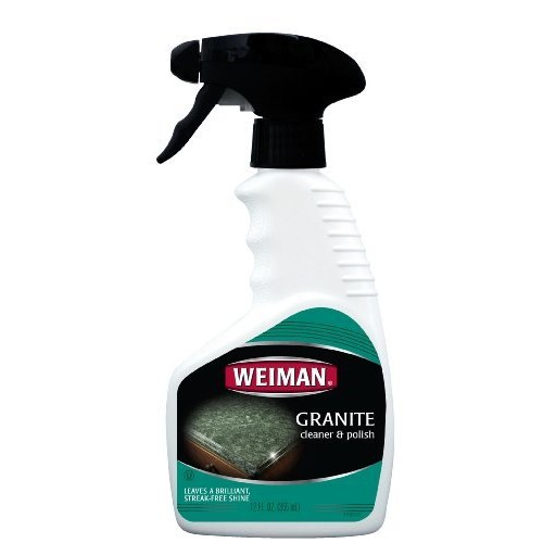 Weiman Granite Cleaner & Polish - Enhances Natural Color in Granite, Quartz, Marble, Soap Stone and More - 12 Fl. Oz. [1]