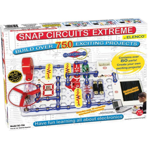 Snap Circuits Extreme SC-750 Electronics Discovery Kit [Standard Packaging]