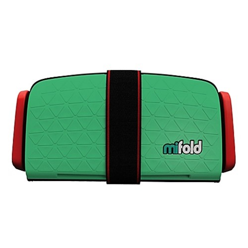 mifold Grab-n-Go Booster Car Seat in Lime Green