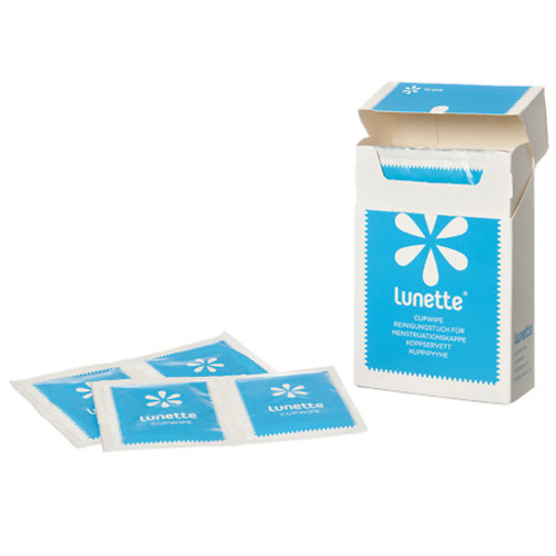 Lunette CupWipes Disinfecting Portable Wipes