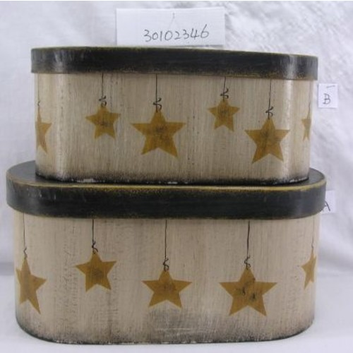 Craft Outlet 2 Piece Star Oval Box Set