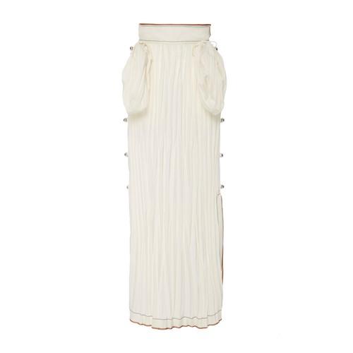 LOEWE Crinkled Satin Midi Skirt