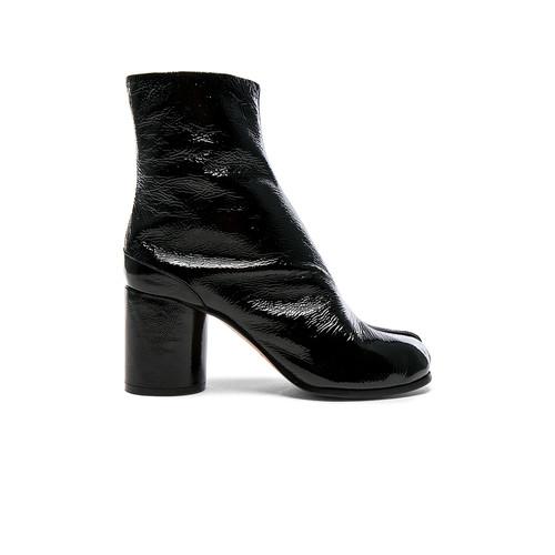 Maison Margiela Patent Boots in Black