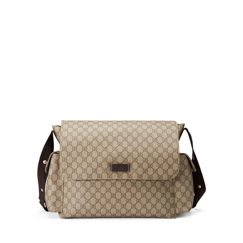 GUCCI Ssima Faux-Leather Diaper Bag W/ Changing Pad