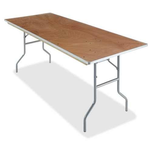 Iceberg Natural Plywood Rectangular Folding Table - Rectangle Top - Folding Base - 30