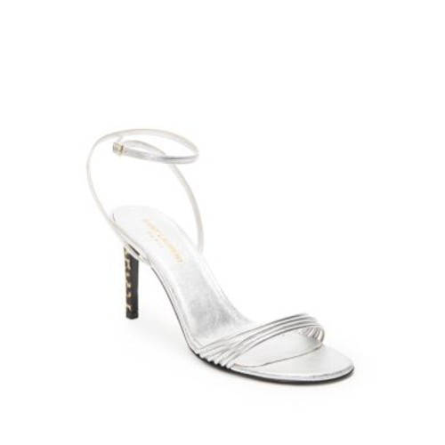 SAINT LAURENT Kate Strappy Metallic Leather Sandals