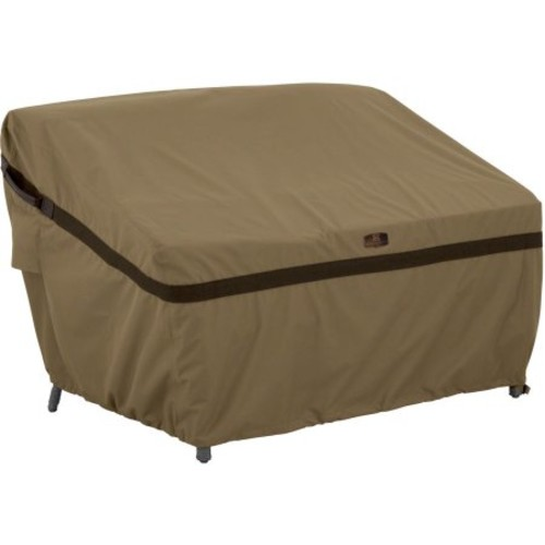 Classic Accessories Hickory Patio Sofa Loveseat Furniture Storage Cover, Medium, Tan