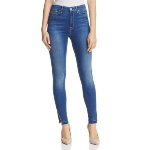 7 FOR ALL MANKIND B(Air) Released Hem High Rise Skinny Ankle Jeans In Manhattan