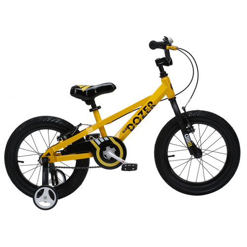 Royalbaby Bull Dozer Kids Bike, Boy's Bikes and Girl's Bikes with training wheels, Gifts for children, 16 inch or 18 inch, Black or Yellow