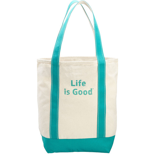 Life is good Carry On Canvas Tote