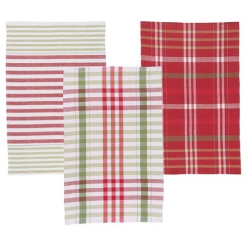 Kitchen Towel Red Green White Buff Beige Now Designs