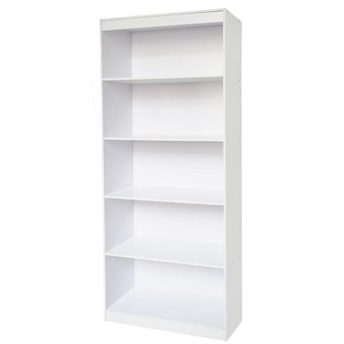 Techni Home White Sturdy Standard 5-Shelf Bookcase