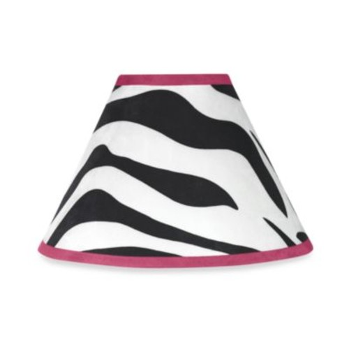 Sweet Jojo Designs Funky Zebra Print Lamp Shade in Black/White/Pink