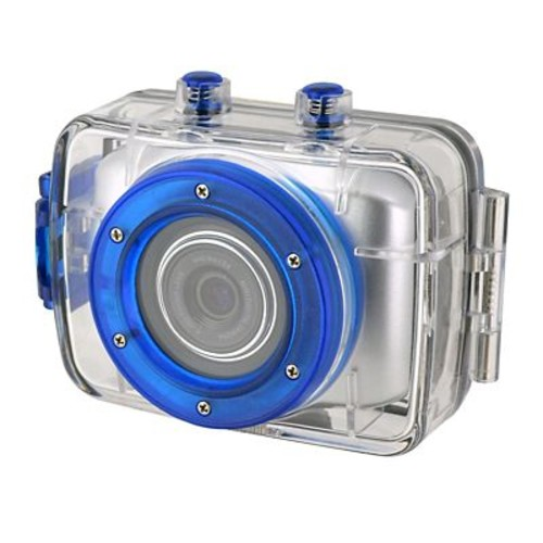 Coleman CX5HD-S 5.0MP HD Action Waterproof Camera With Mounts And Waterproof Housing, Silver