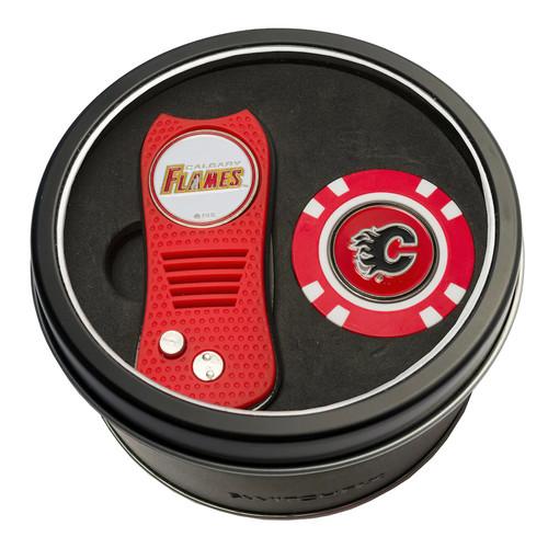 Team Golf Calgary Flames Switchfix Divot Tool & Golf Chip Set