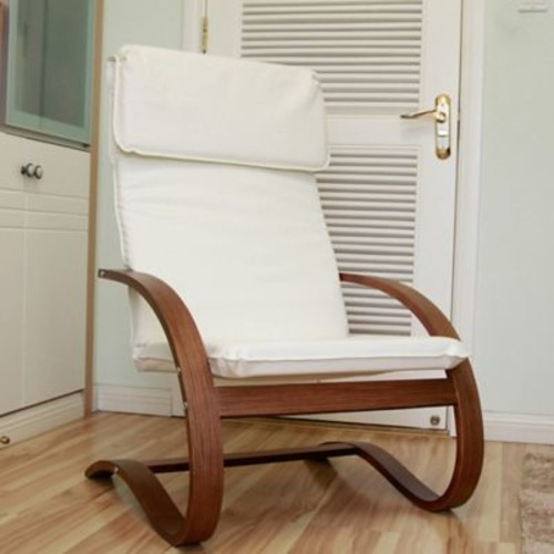 Varick Gallery Argueta Faux Leather Lounge Chair; Ivory