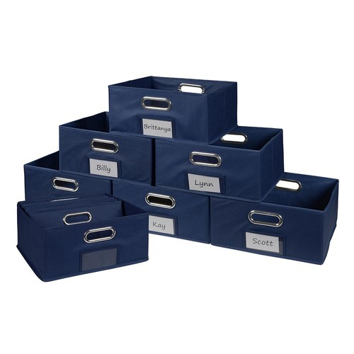 Niche Cubo 12 in. x 6 in. Blue Folding Fabric Bin (12-Pack)