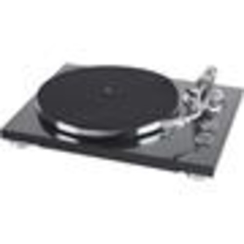 TEAC TN-350 (Satin Black) Manual belt-drive turntable with pre-mounted cartridge, USB output, and built-in phono preamp