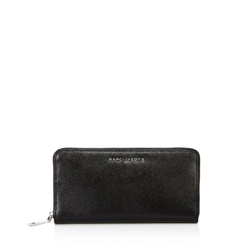 MARC JACOBS Standard Tricolor Metallic Saffiano Leather Continental Wallet