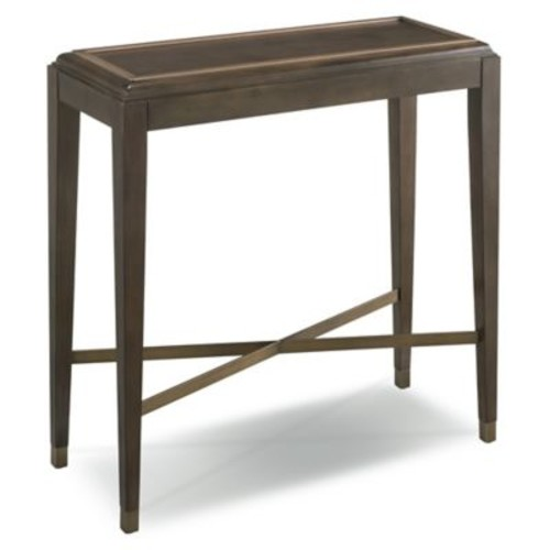 Leick Furniture Simone Hall Stand with Pitch Driftwood/Brushed Bronze Finishes