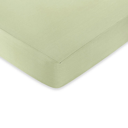 Sweet Jojo Designs Riley's Roses Fitted Crib Sheet in Sage Green