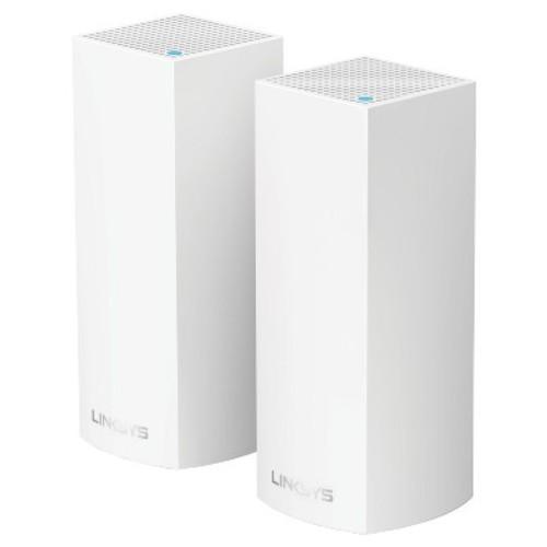Linksys Velop AC4400 MU-MIMO Tri-Band Whole Home Wi-Fi Mesh with Amazon Alexa 2-pk - White