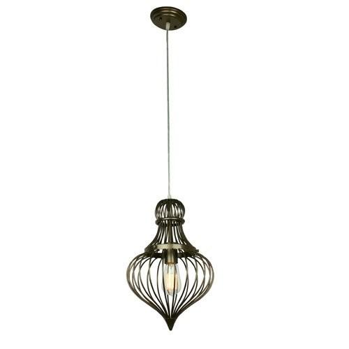 Varaluz Lighting 138M01NB Clout - One Light Flytrap Mini Pendant, New Bronze Finish