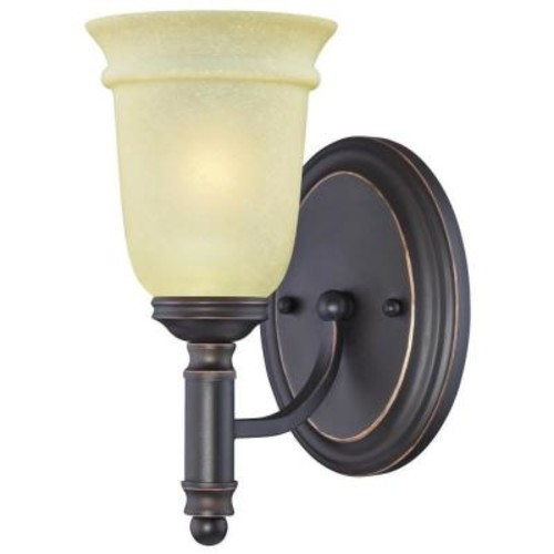 Westinghouse Montrose 1-Light Oil Rubbed Bronze with Highlights Wall Fixture