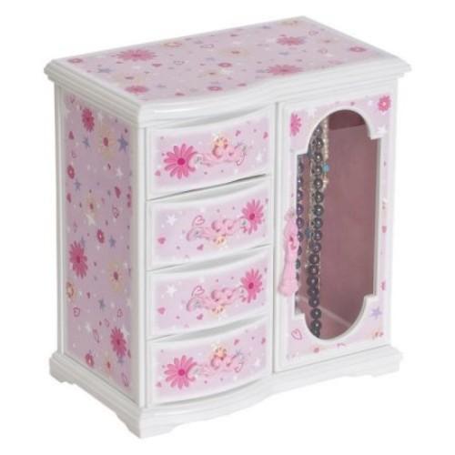Mele & Co. Hyacinth Glittery Upright Musical Ballerina Jewelry Box