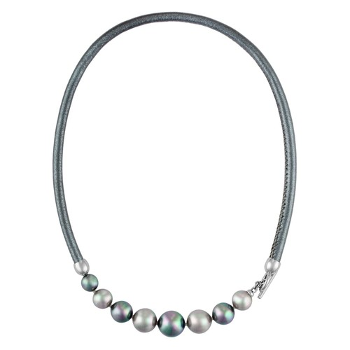 Simulated Pearl Collar Necklace, 17