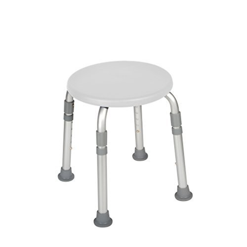 Drive Medical Adjustable Height Bath Stool, White [White]