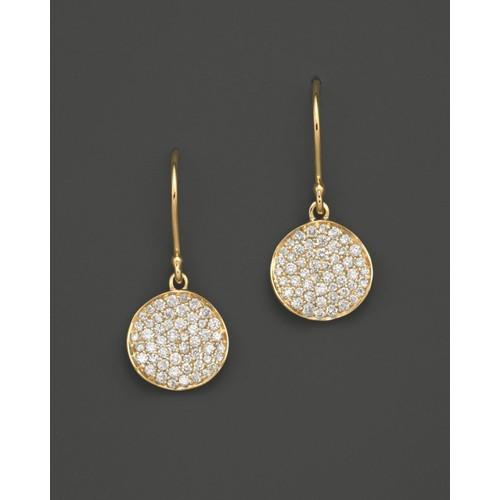 18K Gold Stardust Flower Earrings with Diamonds
