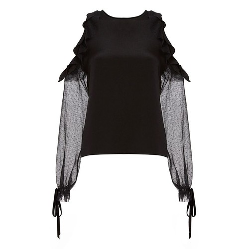 ALEXIS Fernand Ruffle Cold Shoulder Blouse