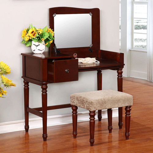 Linon Wyndham Vanity & Stool 2-piece Set