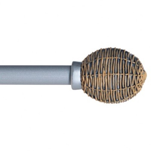 Yorkshire Home Basket Weave Curtain Rod