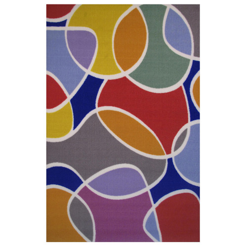 Groovy Multi-colored Accent Rug (1'6 x 2'4)