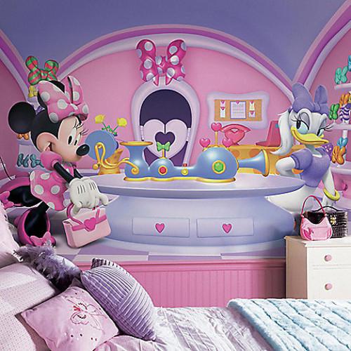 Disney Minnie Fashionista Chair Rail 10.5-Foot x 6-Foot Mural