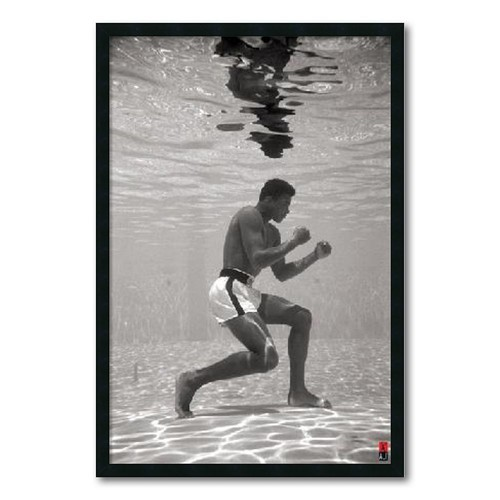 'Ali Underwater' Gel-Textured Art Print