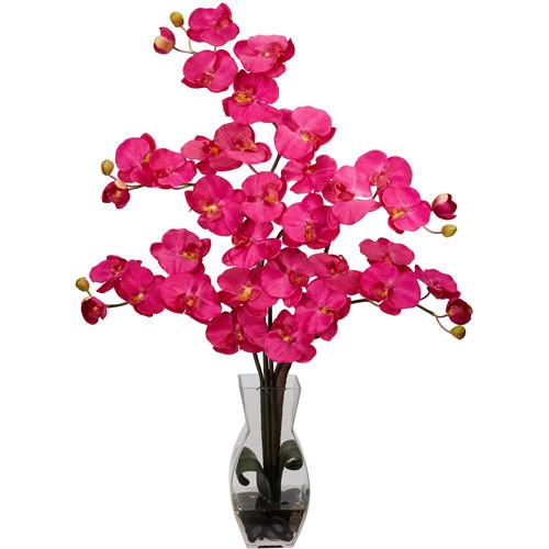 Phalaenopsis with Vase Silk Flower Arrangement, Beauty