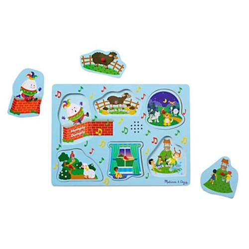 Melissa & Doug Nursery Rhymes Sound Puzzle, Set 2, Pre-K To Kindergarten