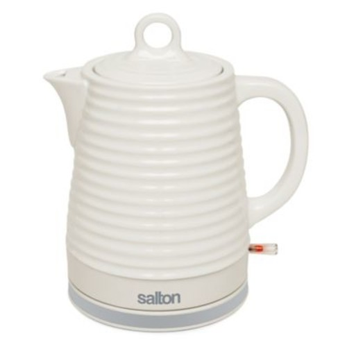 Toastess Cordless Ceramic Electric 1.2 Liter Kettle in White
