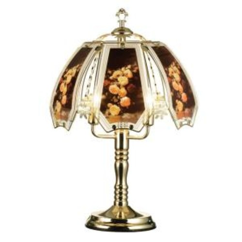 ORE International 23.5 in. Rose Brushed Gold Touch Lamp